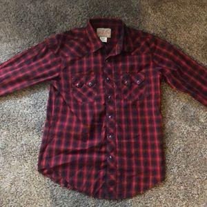 Wrangler Red & black flannel (M) men's